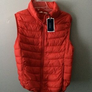 Puffy Red Vest F21